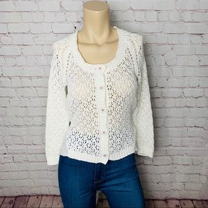 ANTHRO Knitted & Knotted Cardigan w Tied Back Sz M